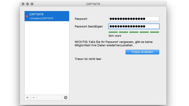 Um die darin liegenden Daten zu verschlüsseln, braucht es ein möglichst langes Passwort, idealerweise einen ganzen Satz.