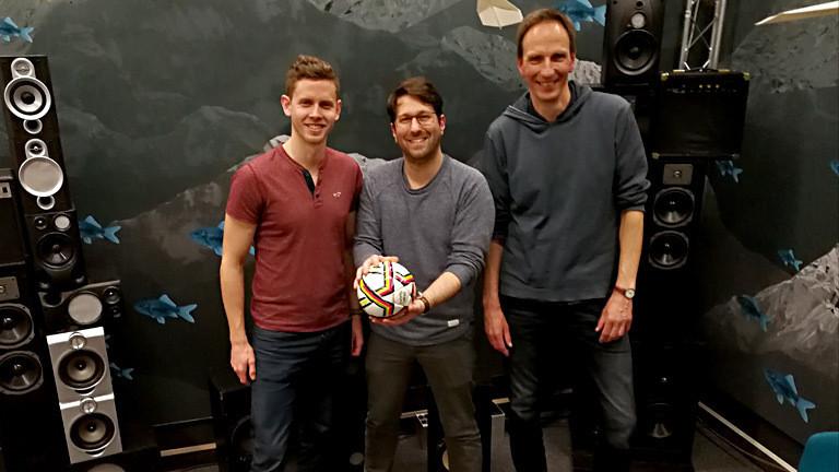 Sportstudent Marcel Wienands und Thomas Abel, Professor an der Deutschen Sporthochschule Köln
