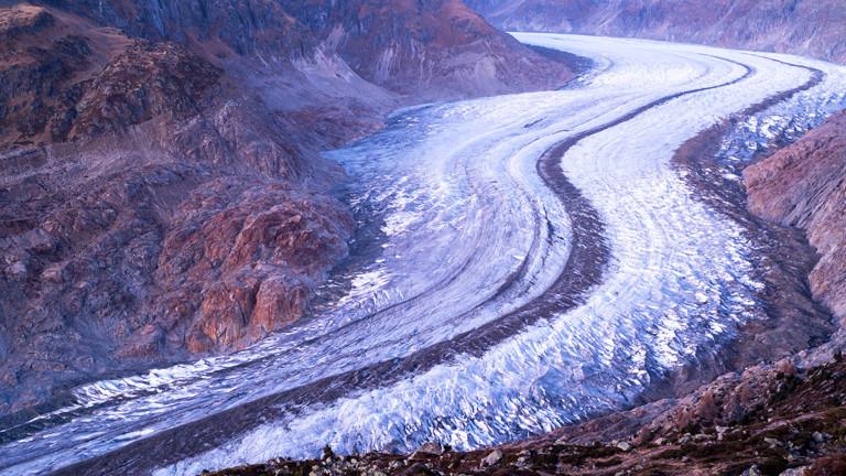 Blick vom Gletscher