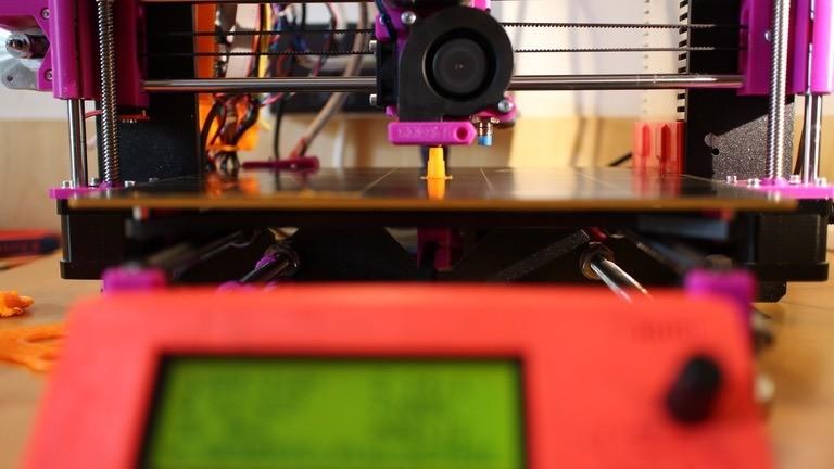 Fertiger, selbstgebauter 3D-Drucker