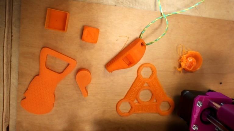 Von einem 3D-Drucker ausgedruckte Gegenstände