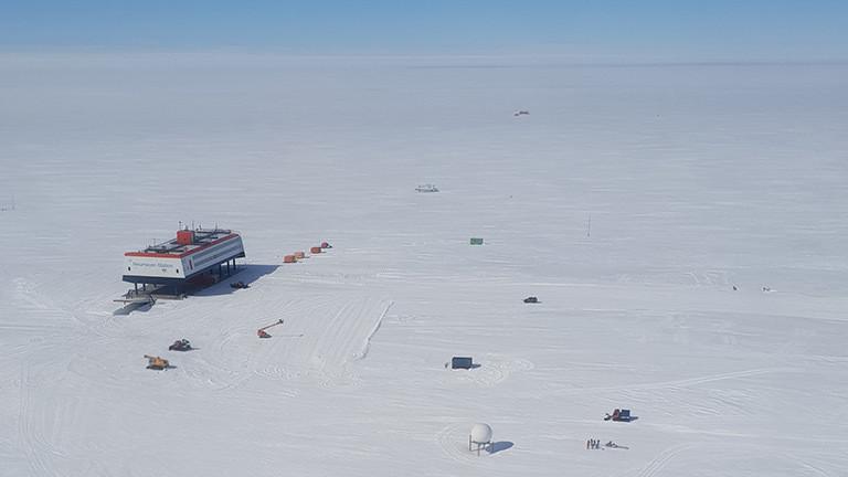 Die Neumayer-Forschungsstation in der Antarktis