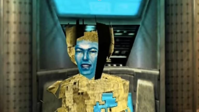 """Screenhot aus dem Spiel """"Omikron: The Nomad Soul"""" von Quantic Dream mit David Bowie als Charakter"""