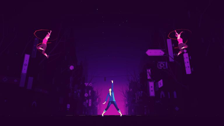 Screenshot aus dem Game Sayonara Wild Hearts von Simogo