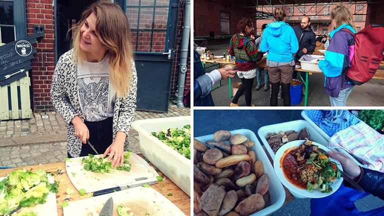 Das Foodsharing Festival ist ein Mitmach-Festival. Hier wird geschnippelt, gekocht, gegessen.