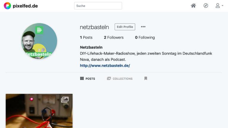Auch einen Instagram-Klon gibts im Fediverse - Pixelfed. Der Netzbastel-Account auf pixelfed.de hat aber noch zu wenig Follower