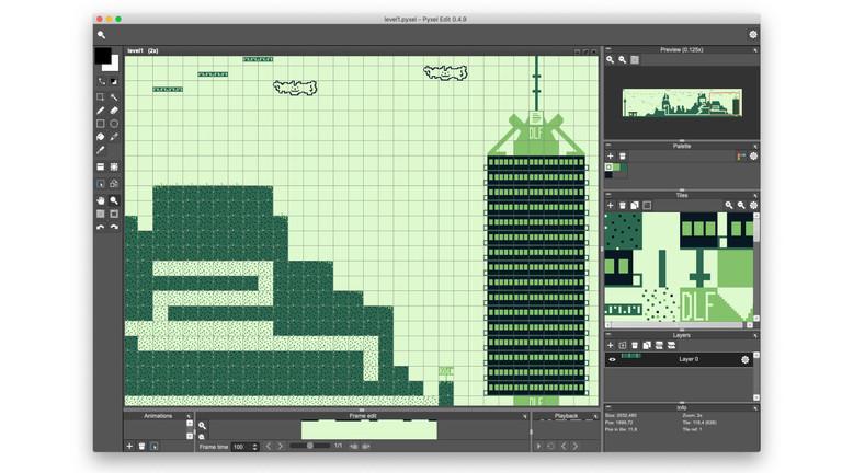 Screenshot aus dem selbstgebastelten Game