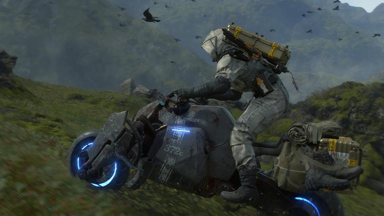Sam auf dem Motorrad