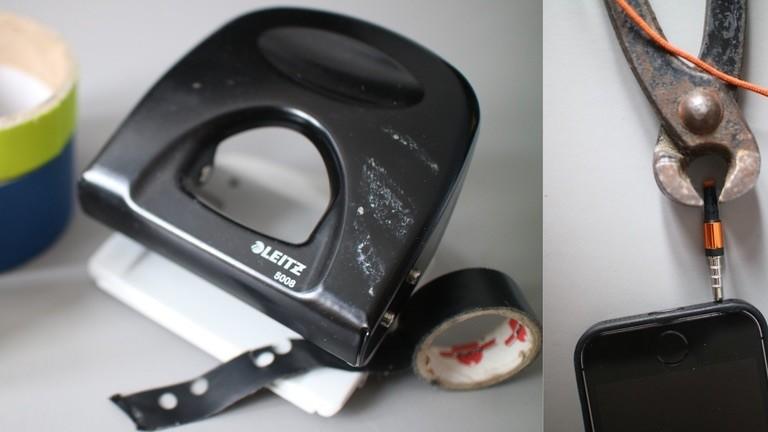 Webcam-Sticker und ein sog. Miclock lassen sich mit Hausmitteln selbst herstellen.