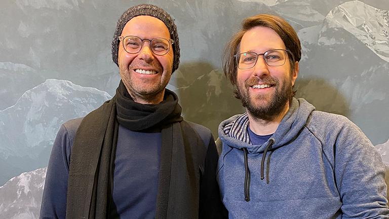 Jörg Adami mit Moderator Sebastian Sonntag im Deutschlandfunk-Nova Studio