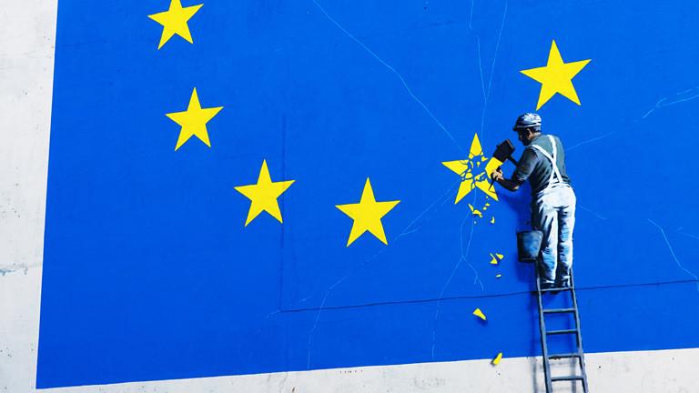 Meterhohes Bild von Banksy übergemalt