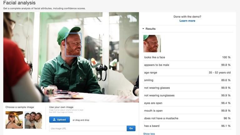 Amazon Gesichtsanalyse