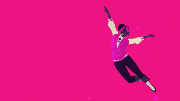 """Screenshot aus dem Spiel """"Sayonara Wild Hearts"""" von Simogo"""