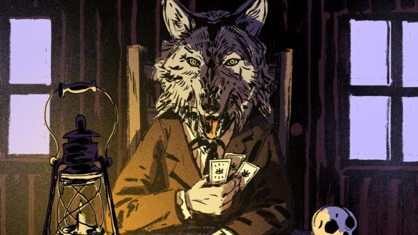 Der Teufels sitzt als Wolf am Pokertisch