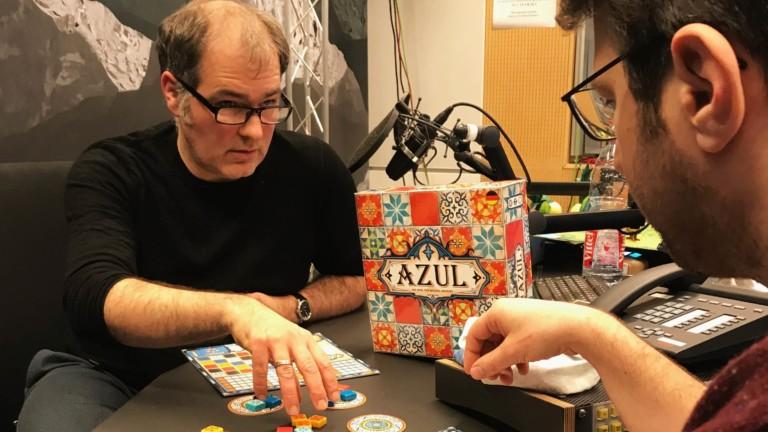 Frank Zirpins und Sebastian Sonntag spielen Azul