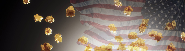 Popcorn vor US-Flagge