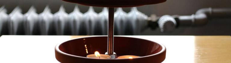 Das Material für die Teelichtheizung bekommt ihr für 10 Euro im Baumarkt.