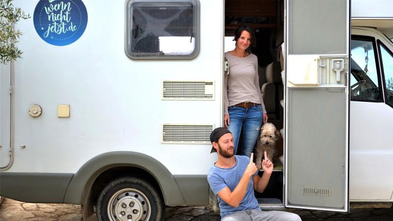Ramona Krieger und Ulrich Pingel bei ihrem Roadtrip.