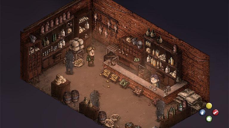 "Eine Szene aus ""The Place for the Unwilling"" von Al Pixel Games"