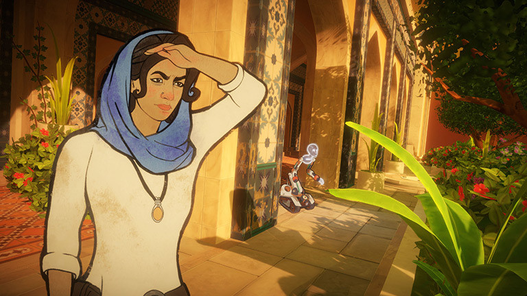 "Screenshot aus Game ""Heaven's Vault"""