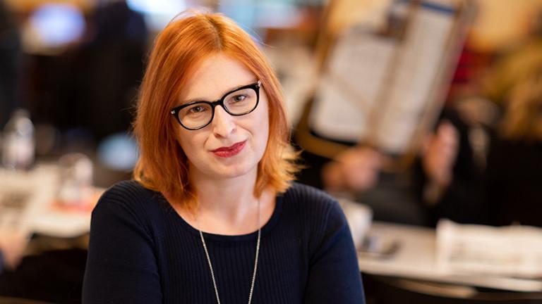 Portrait der Politikwissenschaftlerin Natascha Strobl