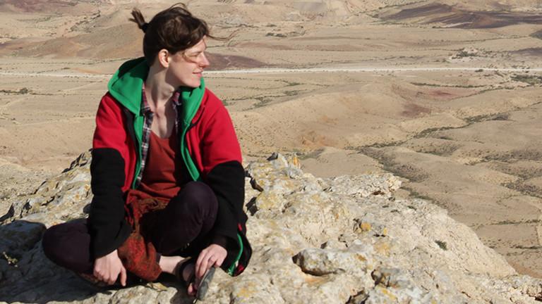 Die Reiseautorin Gabi Finck in Israel
