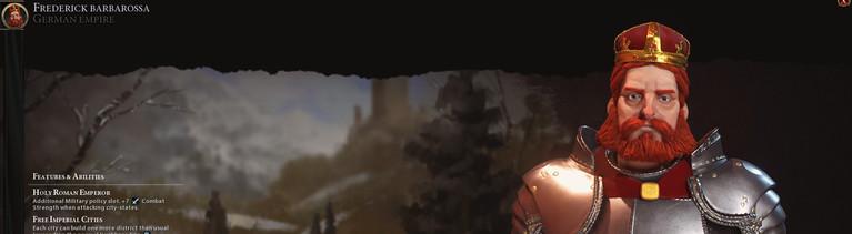Barbarossa - Ausschnitt aus dem Computerspiel Civilisation VI.