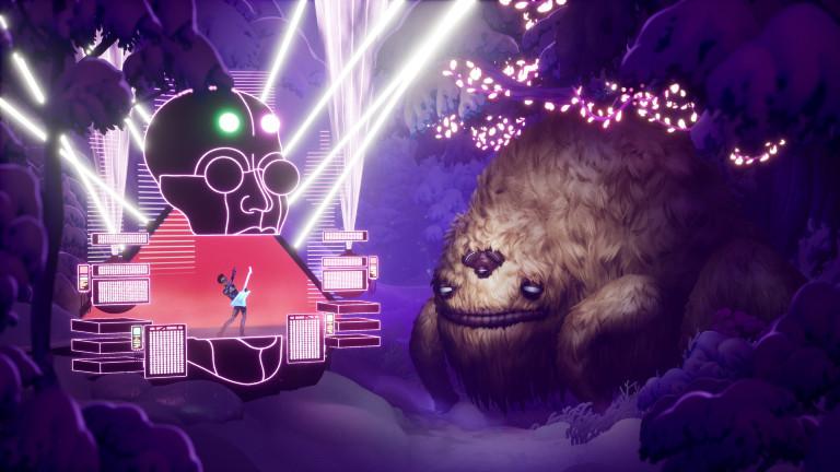 """Artwork aus dem Game """"The Artful Escape"""" vom Entwicklungsstudio """"Beethoven und Dinosaur"""""""