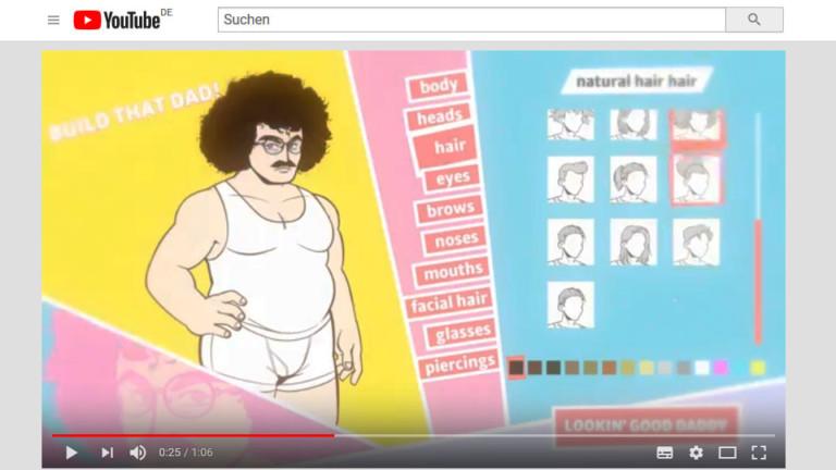 """Youtube-Screenshot aus dem Trailer zum Game """"Dream Daddy"""""""