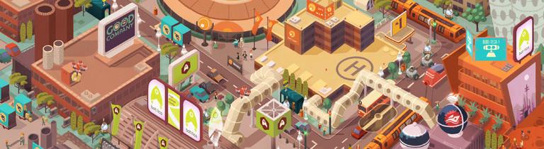 "Screenshot des Computerspiels ""Good Company"" von Chasing Carrots"