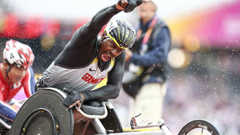 World Para Athletics Championships; London, 23.07.2017 5000m-Bronze fuer Alhassane Balde