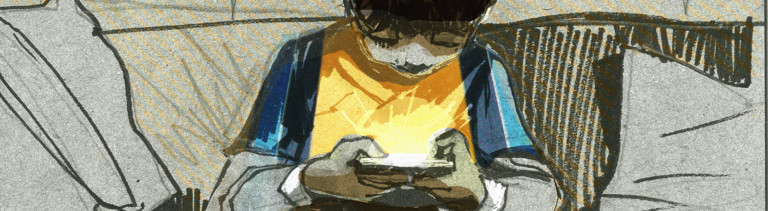 Junge mit einem Tablet