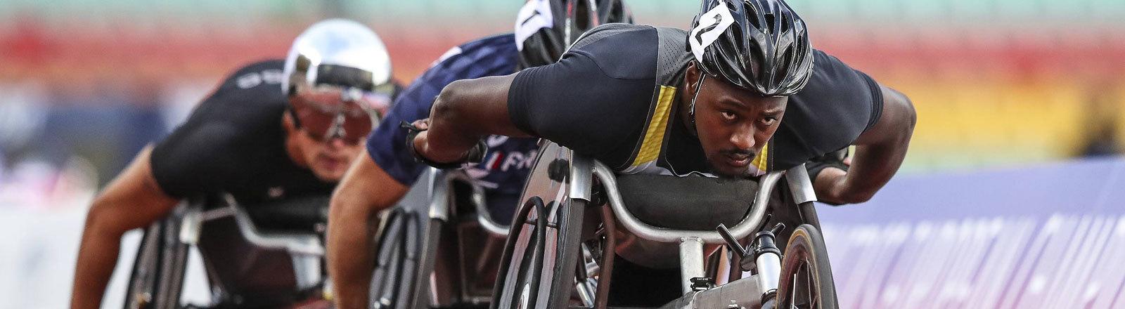 Para Leichtathletik-EM; Berlin, 20.08.2018 5000m - Silber fuer Alhassane Baldé