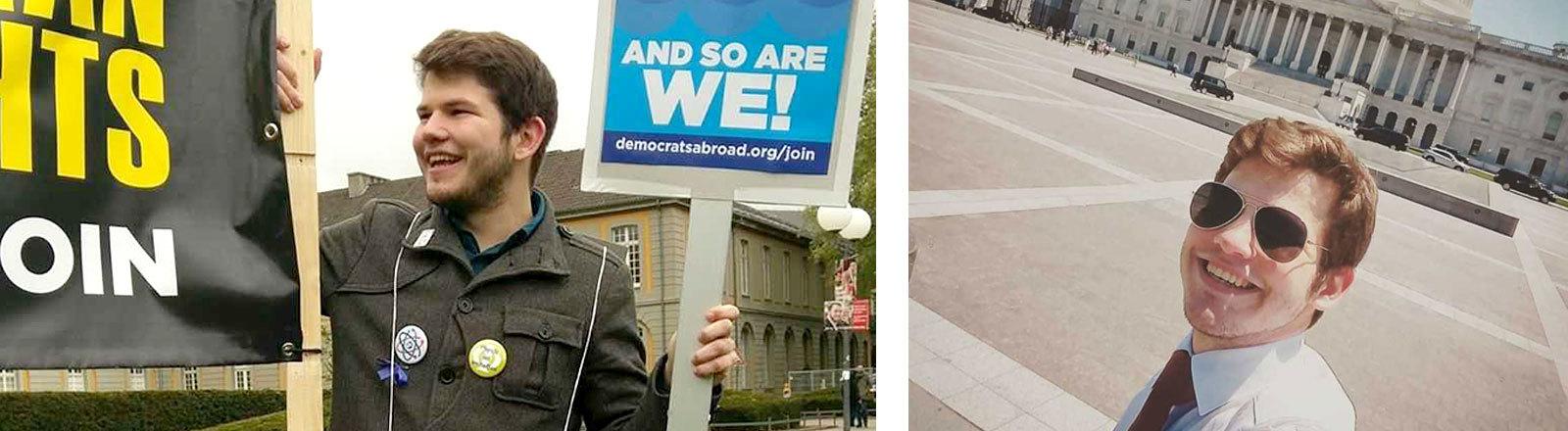 John Grosser beim Wahlkampf