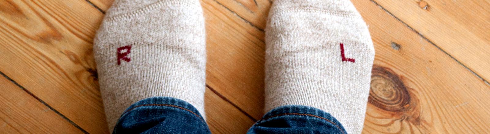 Socken falsch herum