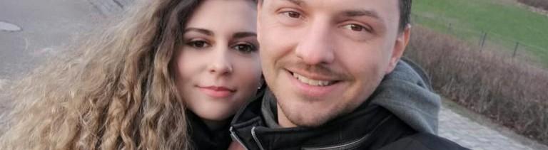 Dzenana mit ihrem Mann Denis.