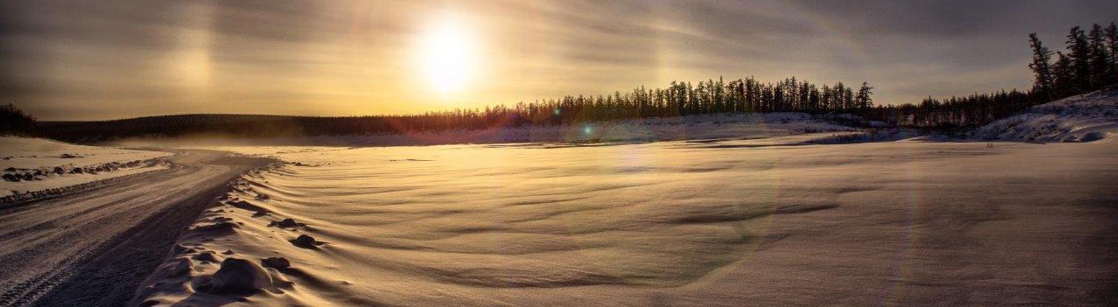 Straße in Sibirien