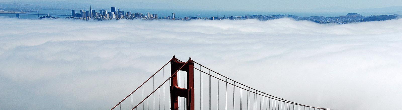 Golden Gate Bridge und Blick auf San Francisco