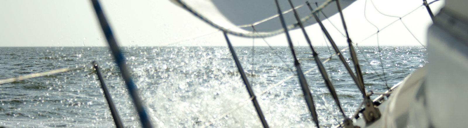Segeln auf einem Segelschiff