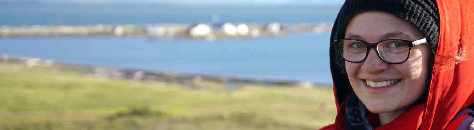 Caro Coch in der Arktis.