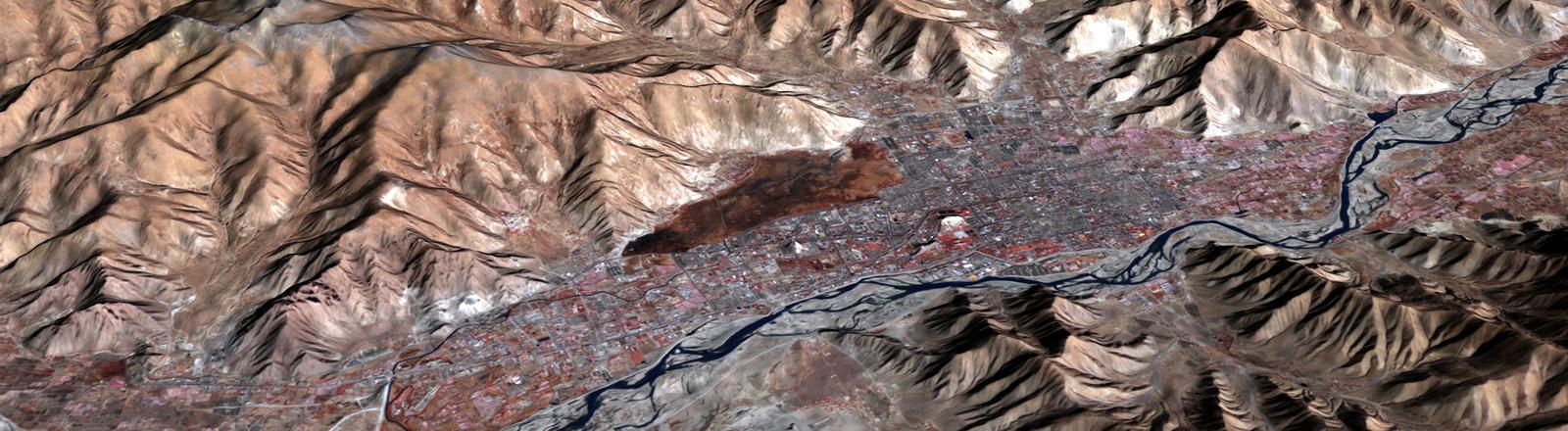 Satellitenbild Lhasa, Tibet