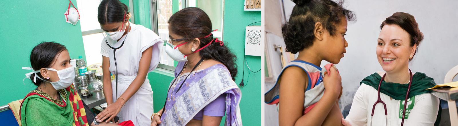 Nathalie Rans bei ihrer Arbeit in Kalkutta für German Doctors.