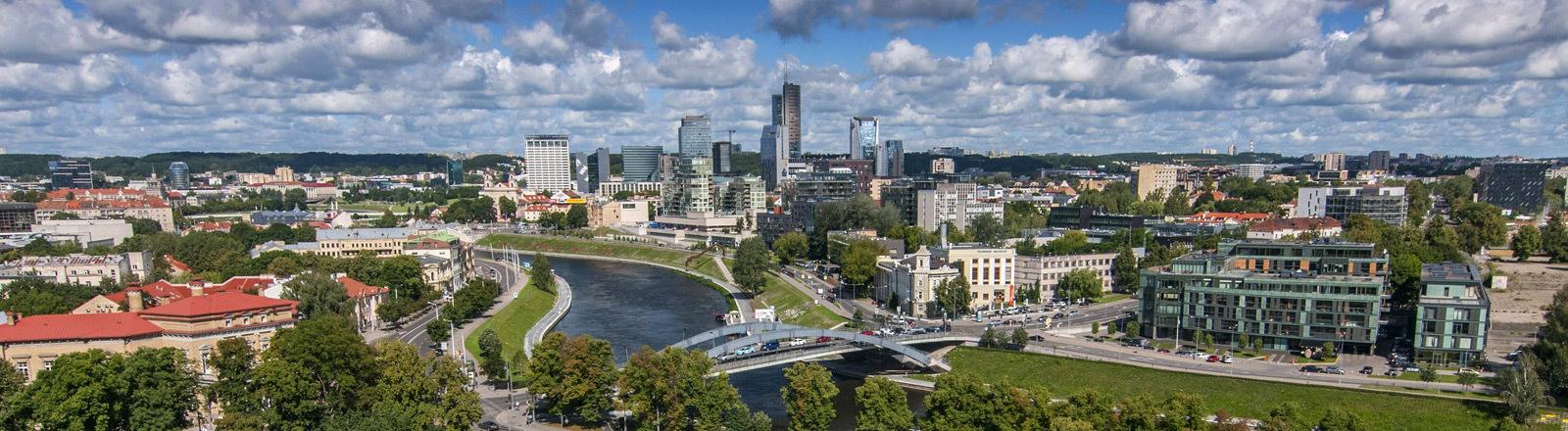 Die Hauptstadt Vilnius in Litauen.