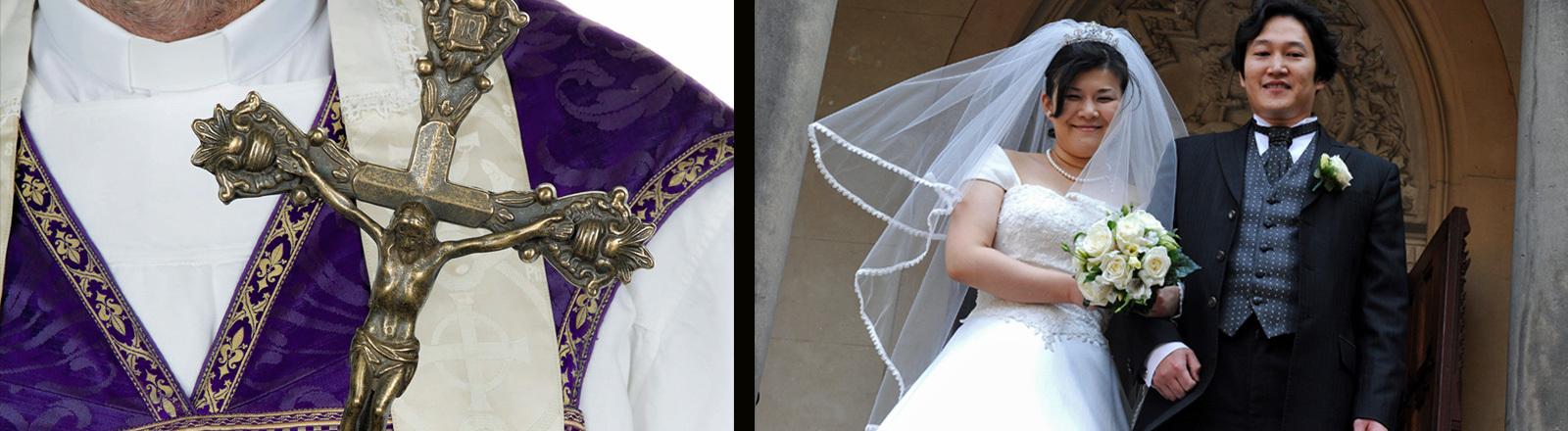 Japans Hochzeitspaare lassen sich gerne von Fake-Priestern nach christlichem Glauben trauen.