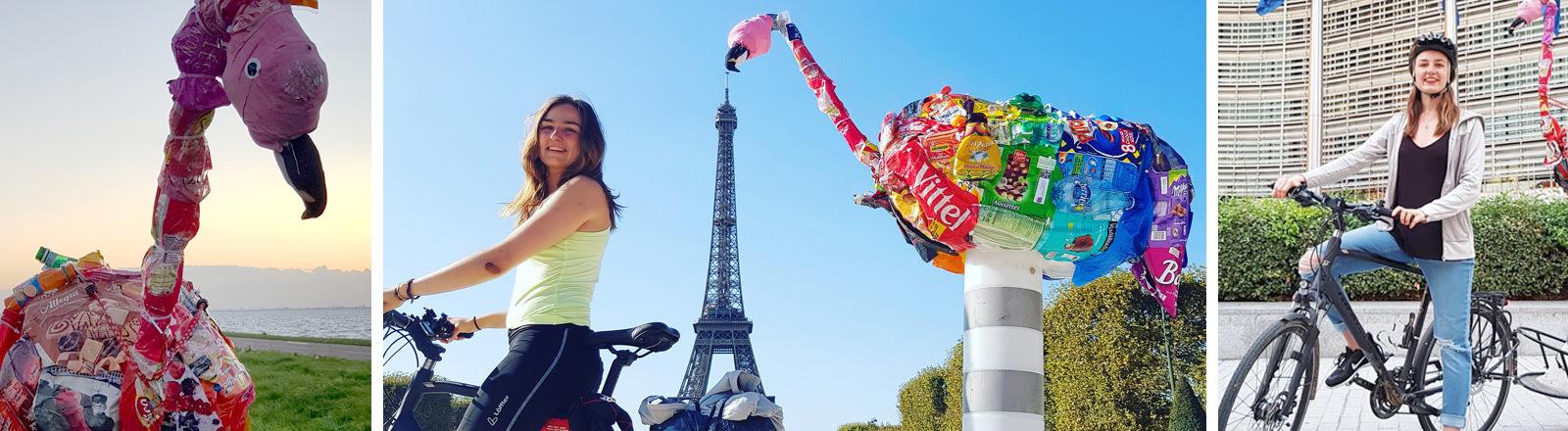 Cara Bütow tourt mit dem Fahrrad durch Europa.