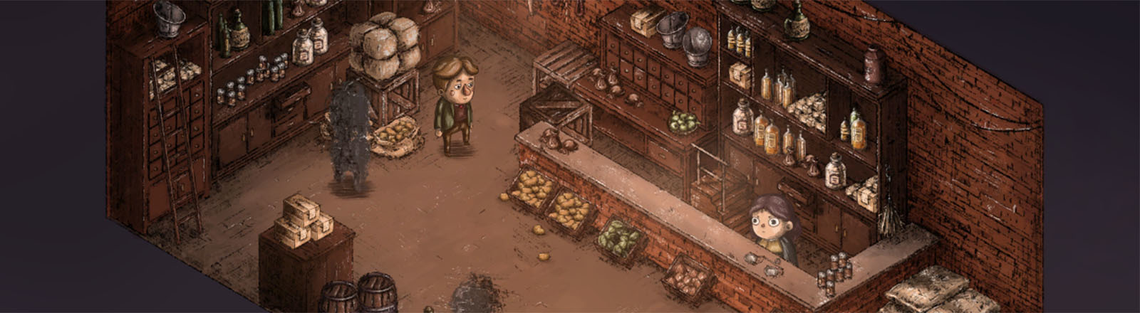 "Eine Szene aus ""The Place for the Unwilling"" von Al Pixel Games"