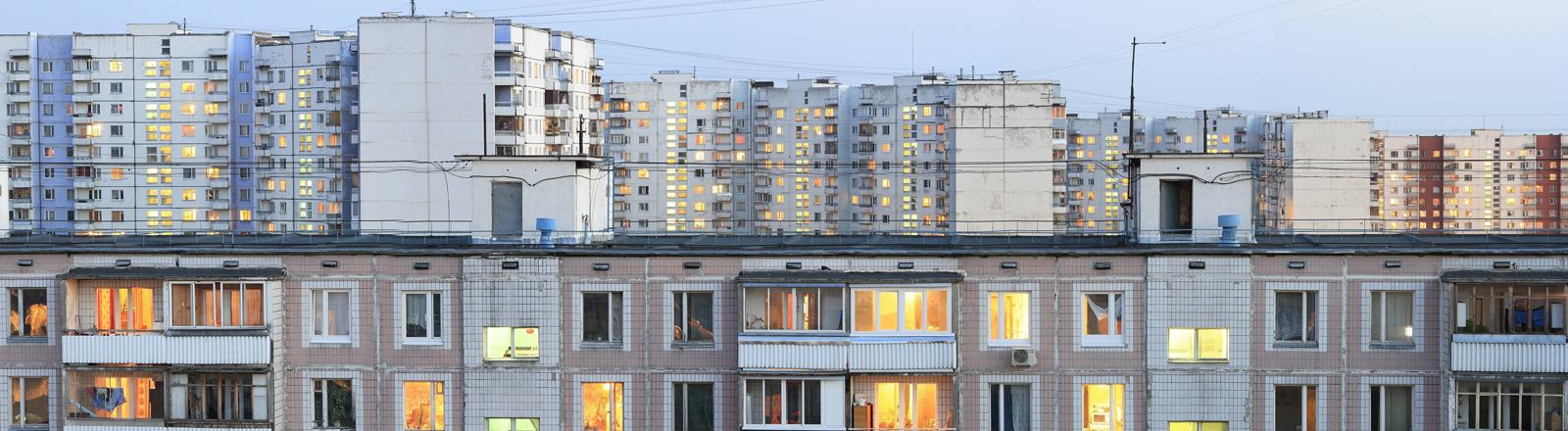 Plattenbau in Moskau.