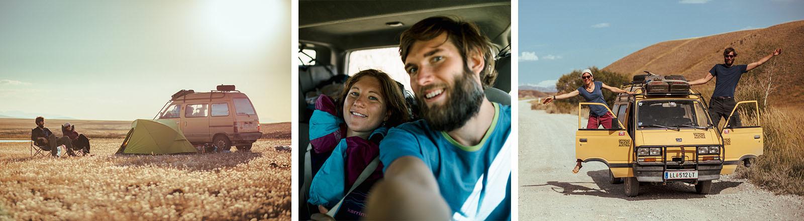 Vanessa Scharsching und Christian Biemann reisen durch Zentralasien.
