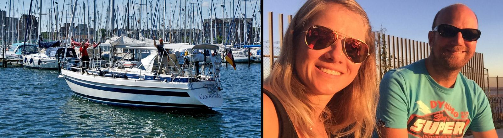 """Das Segelboot """"Good Times"""" von Johanna und Stefan"""