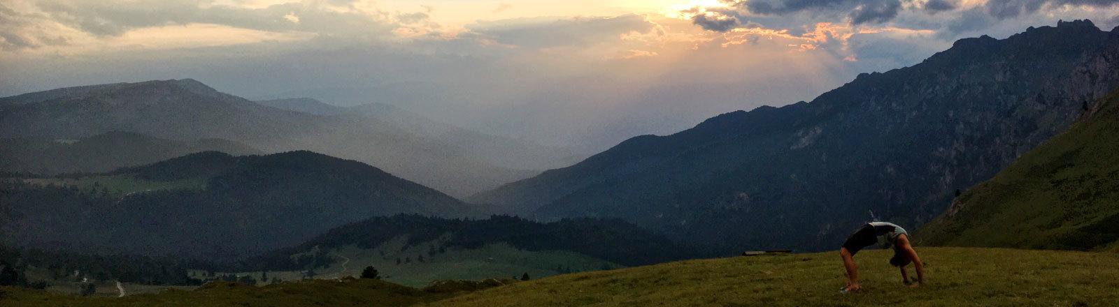 Ana Zirner in den Dolomiten